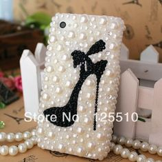 Aliexpress.com : Buy 2013 Fashion style pearl case for iphone4/4s Beautiful Crystal high heels case Top quality from Reliable case for iphone 4 pearl suppliers on Skytech Global Technology INC. $9.99