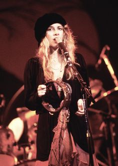Late 70's Stevie and her tambourine