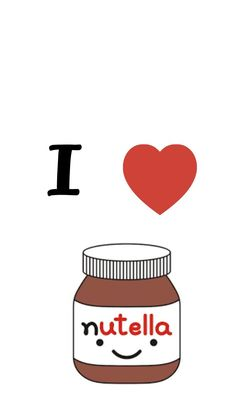 Who doesn't like nutella ? Not me of course! Food Wallpaper, Tumblr Wallpaper, Galaxy Wallpaper, Disney Wallpaper, Wallpaper Backgrounds, Pink Wallpaper, Mobile Wallpaper, Cute Wallpapers, Iphone Wallpapers