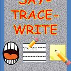 SAY-TRACE-WRITE Flashcards for Sight Words    With 3 diiferent approaches, learning sight words becomes a fun and engaging activities for the students in your classroom or for at-home practice....