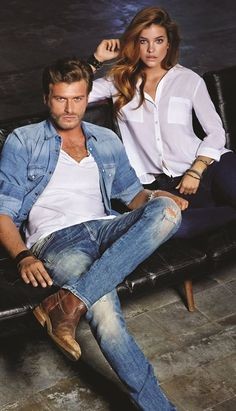 Turkish actor Kivanc Tatlitug and Hungarian model Barbara Palvin for Mavi