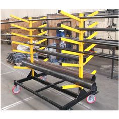 BT70450 - A Folding Mobile Pipe Rack Designed For Storage Of Pipes & Tube Sections