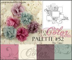 Carnation Pink, Very Vanilla, Pale Plum, Mostly Mint