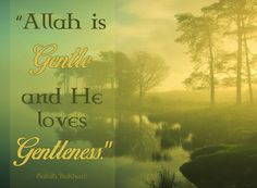 Allah loves kindness and gentleness in all matters, so we should manifest these qualities even when we face abuse Allah Loves Gentleness Things