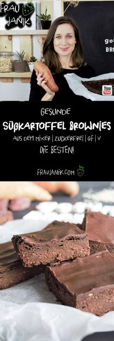 Gesunde Süßkartoffel Brownies Vegan Cake vegan cake like brownies Sweet Potato Brownies Vegan, Healthy Brownies, Vegan Brownie, Healthy Cake, Brownie Recipes, Zucchini Brownies, Healthy Zucchini, Protein Brownies, Dessert Oreo