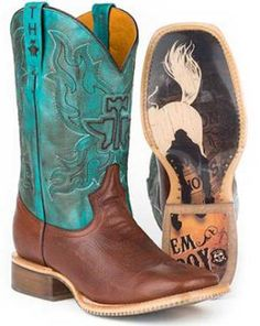 These Tin Haul Cowboy Boots With Bronc Rider Soles are made for today's modern & fashionable cowboys. Handmade with amazing colors and a one of a kind outsole design that are sure to leave an impression.