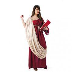 #Disfraz de #Griega para #Mujer Disfraz de Griega con efecto real gracias a sus tejidos y confeccion. Este disfraz es perfecto para convertite en Hipatia de Alejandria, la primera mujer cientifica. Este disfraz es ideal para fiestas de Romanos y Griegos.