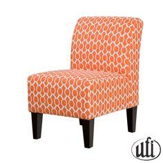 Orange accent chair