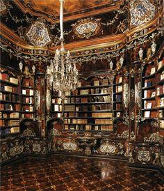 Villa della Regina , the Library , Torino, Italy