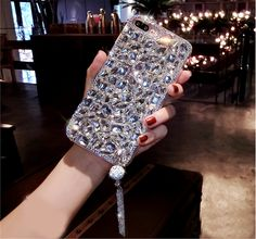 Bling Jewelled Rhinestone Crystal Diamond Soft Back Pendant Phone Case Cover For iPhone X 7 8 Plus 5 Se Xr Xs Max Iphone Cases Bling, Ipod Touch Cases, Girl Phone Cases, Glitter Phone Cases, Iphone 8 Plus, Iphone 6, Crystal Rhinestone, Crystal Diamond, Swarovski