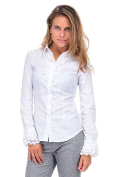 CamicettaSnob - Camicie - Abbigliamento - Camicia in tessuto misto cotone e…