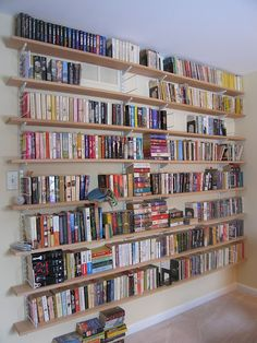 Wall of books - I could fill this up easily!
