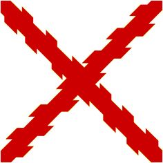Cross of Burgundy was adopted as the symbol of the Tercios and the Spanish Empire. Alta California, California Missions, Conquistador, Spanish Flags, Thirty Years' War, New Spain, Mexican American, Flags Of The World, Empire