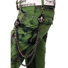 Black Metal Gothic Punk Rock Emo Fashion Pants Jeans Chain Accessories  SKU-71117011