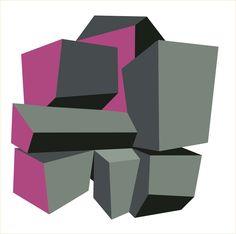 Black Blocks. Art Print (paper or canvas) Ligia de Medeiros, 2014