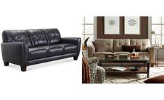 Kaleb Tufted Leather Sofa - Couches & Sofas - Furniture - Macy's