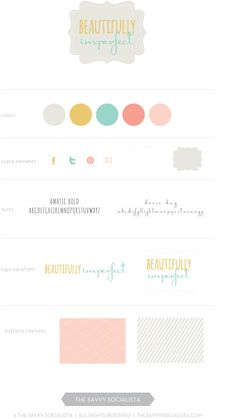 Optional brand board for Beautifully Imperfect, created by The Savvy Socialista.