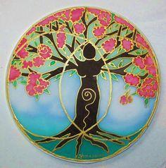 Tree mandala, spiritual gift,Tree of Life, Tree Of Creativity spring art ,mandala art, spiritual art, goddess art, meditation art, altar art