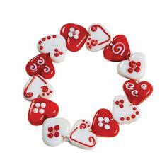 Heart Lampwork Bead Bracelet Craft Kit - TerrysVillage.com