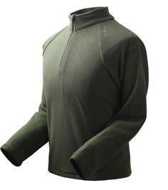 Men's Breathable Sports Windstopper Long Sleeve Fleece Jacket Shirt - US$21.56