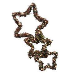 Guirnaldas con forma de estrella de Gisela Graham, dorado www.achica.es