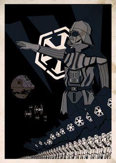 Affiche propagande Star Wars by Nanni Jean-Michel, via Behance
