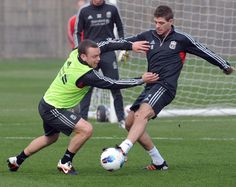 Training with Liverpool FC