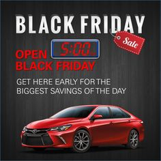 Wonderful Set Your Alarm For Amazing Savings This Black Friday And Make Your Way To Priority  Toyota Chesapeake! Weu0027ll Be Opening At In Sales, Service And Parts.