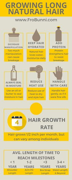 Tips for growing long natural hair.