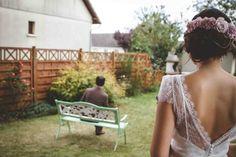 Awesome picture of the Celestina #marielaporte #lace #bride #wedding #weddingdress #lacedetail #bohowedding