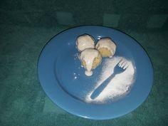 """""""Túrógombóc"""" kölesből glutén-és tejmentesen Pancakes, Gluten, Eggs, Breakfast, Food, Morning Coffee, Essen, Pancake, Egg"""