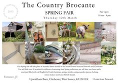 West Sussex: Chichester, Country Brocante fair March 12th 2015.