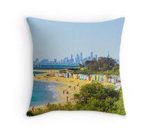 The Beauty of Brighton Beach Throw Pillow