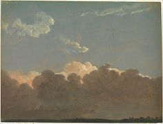 Cloud Study (Distant Storm) Simon Denis (Flemish, Antwerp 1755–1813 Naples) - ca. 1786-1806.