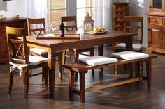 Esstisch 180cm Glory Pinie massiv Holz Moebel Esszimmer Küchentisch Speisetisch