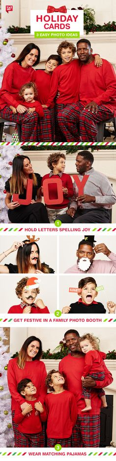 No time to go to a photo studio for your holiday card photo? No problem. Here are a few easy and affordable ideas you can do at home that are guaranteed to bring smiles. Then, choose from our selection of photo card designs and pick up same day! See more on our Smile Blog.