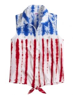 Dye Effect Sleeveless Shirt Justice Shop #Valley West Mall this summer!