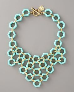 Milly Hexagon Link Bib Necklace  obsessed...