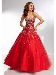 robe de bal col en coeur parole longueur tulle robe de fête