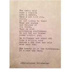 Remington Typewriter Poetry. : Photo