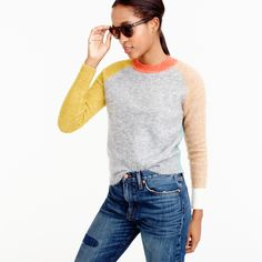 Colorblock sweater : Pullovers | J.Crew