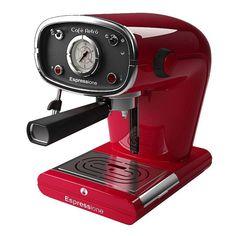 Espressione Retro Espresso Machine - Everything Coffee - Kitchen - Lavazza Coffee Machine, Coffee Maker Machine, Cappuccino Machine, Espresso Machine Reviews, Coffee Maker Reviews, Espresso Maker, Espresso Drinks, Espresso Coffee, Café Retro