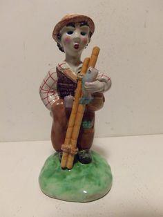 Walter Bosse Pottery FISHERMAN figurine 9 inch Austria Weiner Werkstatte in Antiques | eBay