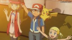Amourshipping with Pikachu and Bonnie Pokemon Ash And Serena, Tumblr, Drawing Reference, Pikachu, Family Guy, Drawings, Anime, Fictional Characters, Animated Disney Characters