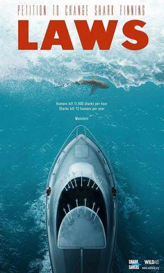 Aleta de tiburón. Anuncio de Wild Aid