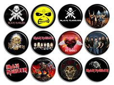 Iron Maiden Music Rock Band Buttons Pins Badges CD New Collection | eBay