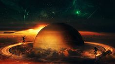 #1554132, planetary ring category - widescreen backgrounds planetary ring