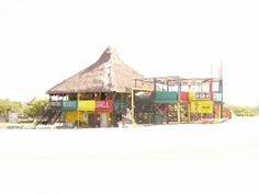 Rasta's Reggae bar on the beach in Cozumel