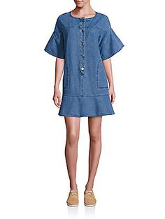 See by Chloé Washed Denim Dress