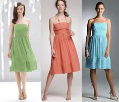 J.CREW Strapless Bright Coral Silk Chiffon JULIET Bridesmaid Party Dress sz 4 #JCrew #Shift #Formal